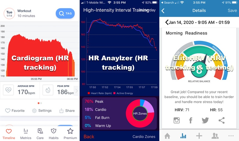 apps i use to analyze and track heart rate data